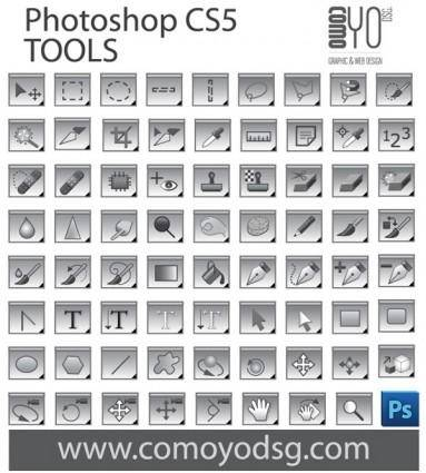 free vector Photoshop CS5 Tool Collection