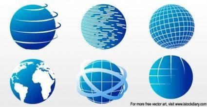 free vector Images - Globe icon set