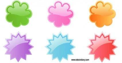 free vector Cute badges vector