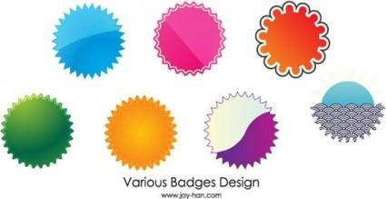 Web 2.0 badges vector