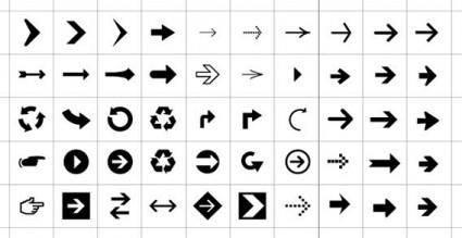 free vector Arrow icons vector