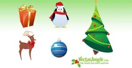 free vector Christmas icons pack
