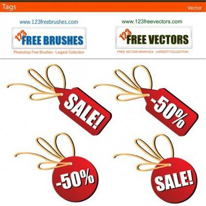 free vector Sales tags free vector
