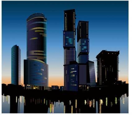 Highrise buildings 05 vector