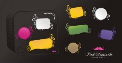 free vector Colorful Vector Labels