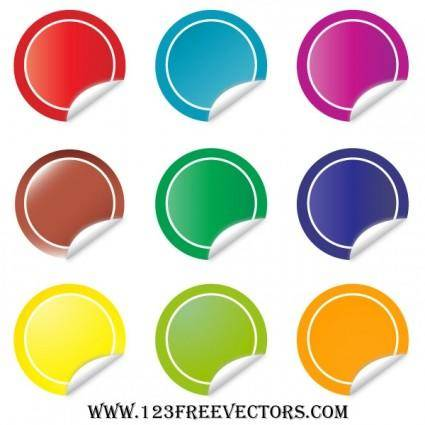 free vector Sticker Vector