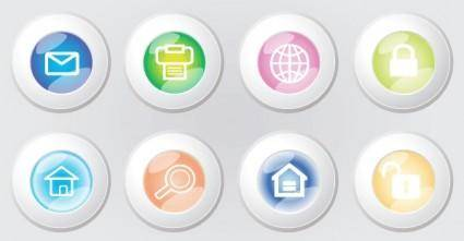 free vector Web 2.0 Icons Button Vector Graphic