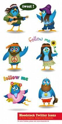 Woodstock Twitter Icons set