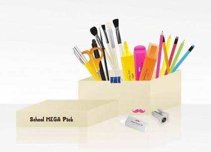 free vector School MEGA pack