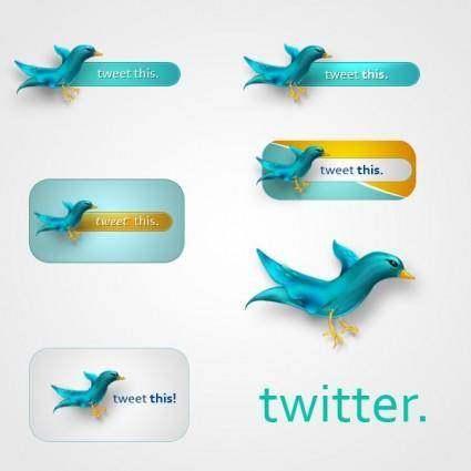 free vector Twitter Icons .PSD