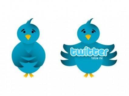 free vector Vector Twitter Bird Icon