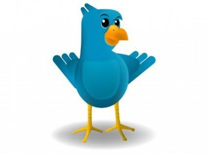 free vector Smug Twitter Bird