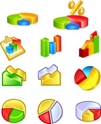 free vector Free Vector Diagram Icons