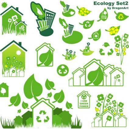 free vector Vectors-Ecology Set
