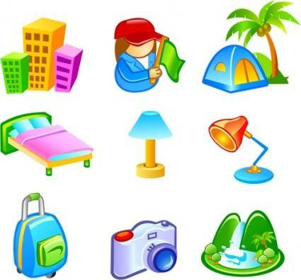 free vector Free Vector Travel Icons