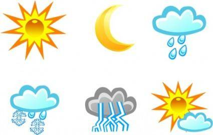 Free Vector Weather Icons 20177