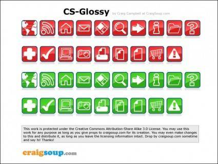 free vector Glossy Icons