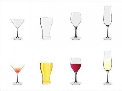 free vector Glass Set