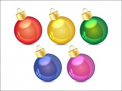 free vector Christmas Balls