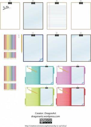 Clipboard and Pencils Vector