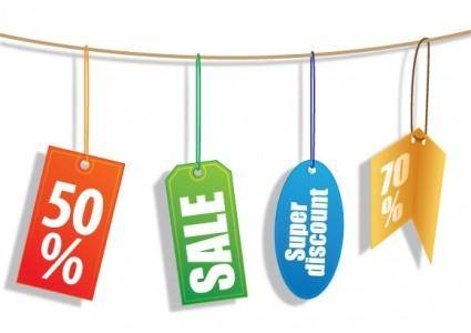free vector Discount Tags