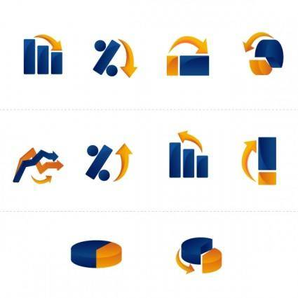 free vector Graphs Icons Pack