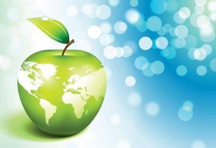 free vector Apple earth vector 3