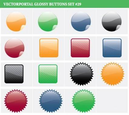 free vector Glossy Buttons