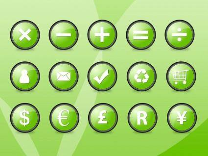 free vector Green Orb Icons