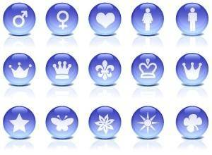 Glass Icons blue rounded