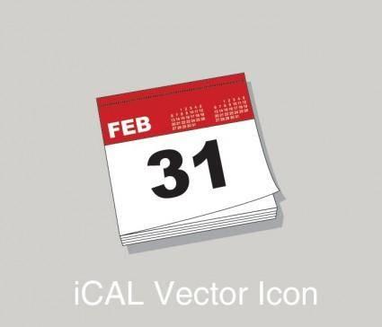 free vector Ical calendar icon