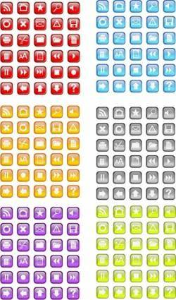 free vector 30 Free Vidro Icon Vector pack in six colors