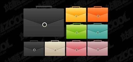 free vector Color briefcase icon