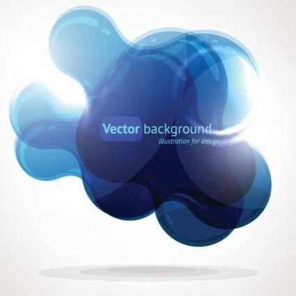 free vector Crystal clear graphics vector 6 cloud