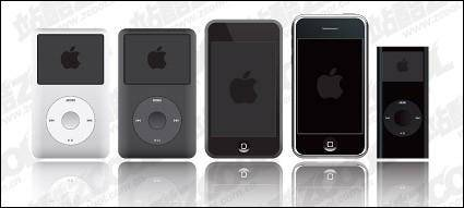 free vector Apple ipod products vector material