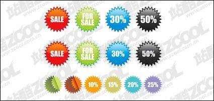 free vector Sales price element vector material