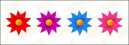 free vector Windmill shape of small flowers vector material