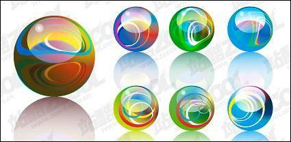 Lights crystal ball vector material