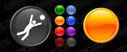 free vector The colorful circular button crystal material