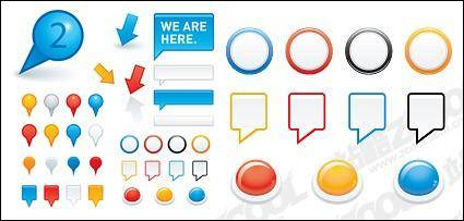 free vector Bubble dialogue with the button