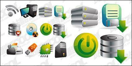 free vector Three-dimensional computer icon vector material