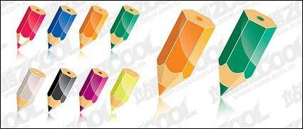 Color pencil vector material-2