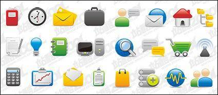 free vector With the office computer network icon