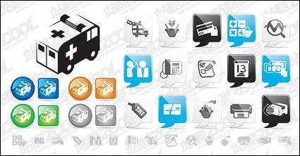 free vector Web2.0 style icon vector material
