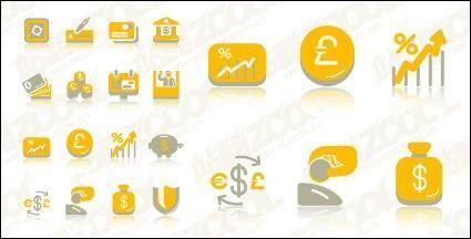 free vector Financial cute icon vector material