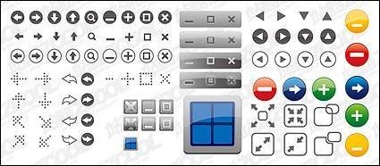 Window icon button vector material