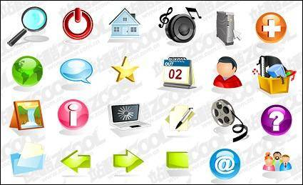 free vector Crystal practical three-dimensional vector icon material