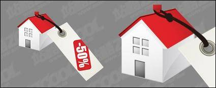 free vector House sales price vector material