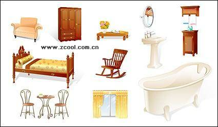 Furniture, household goods icon vector material