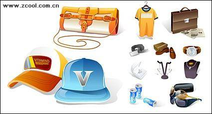 Fashion icon vector material goods